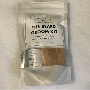 NWT Beard Groom Kit, beard oil & beard brush